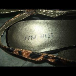 Nine West Shoes - Nine West cheetah sling backs